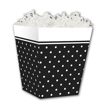 Black & White Swiss Dots Sweet Treat Boxes, 4 x 4 x 4 1/2