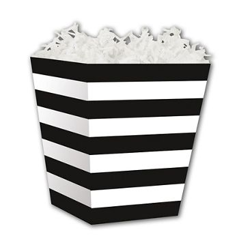 Black & White Stripes Sweet Treat Boxes, 4 x 4 x 4 1/2