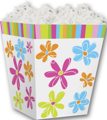 Citrus Blossoms Sweet Treat Boxes, 4 x 4 x 4 1/2