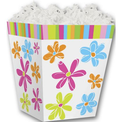 Citrus Blossoms Sweet Treat Boxes, 4 x 4 x 4 1/2""