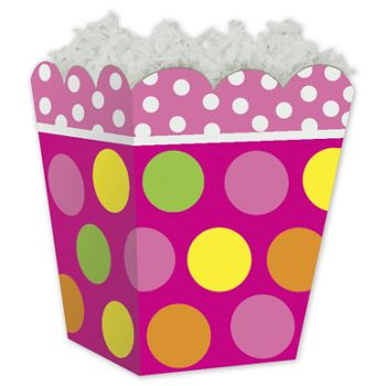 Citrus Dots Sweet Treat Gift Boxes, 4 x 4 x 4 1/2