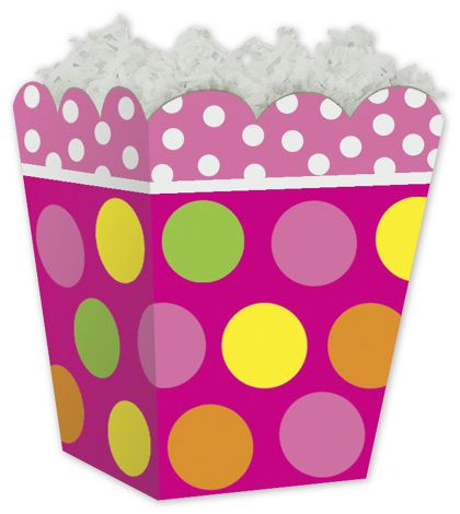 Citrus Dots Sweet Treat Gift Boxes, 4 x 4 x 4 1/2""