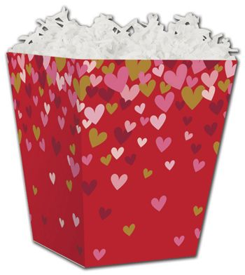 Confetti Hearts Sweet Treat Boxes, 4 x 4  x 4 1/2