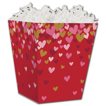 "Confetti Hearts Sweet Treat Boxes, 4 x 4 x 4 1/2"""