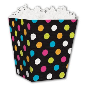 Dazzling Dots Sweet Treat Boxes, 4 x 4 x 4 1/2