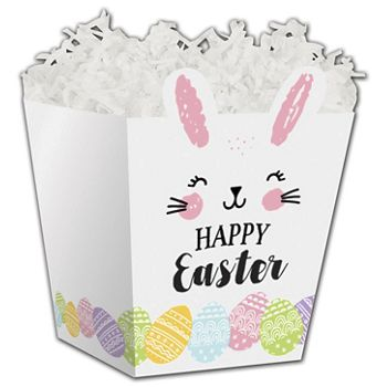 Happy Easter Bunny Sweet Treat Boxes, 4 x 4 x 4 1/2