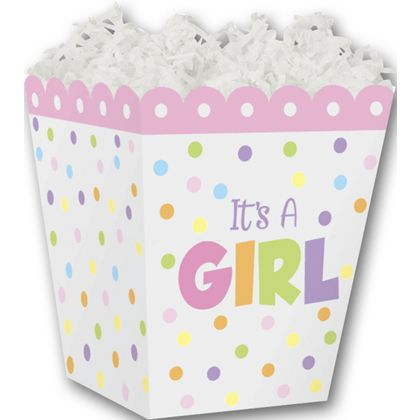It's a Girl Sweet Treat Boxes, 4 x 4 x 4 1/2""
