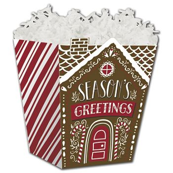 Gingerbread House Sweet Treat Boxes, 4 x 4 x 4 1/2""
