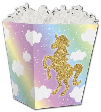Glitter Unicorn Sweet Treat Boxes, 4 x 4 x 4 1/2