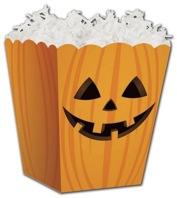Halloween Pumpkin Sweet Treat Boxes, 4 x 4  x 4 1/2