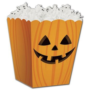 "Halloween Pumpkin Sweet Treat Boxes, 4 x 4 x 4 1/2"""