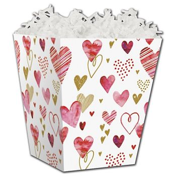 Playful Hearts Sweet Treat Boxes, 4 x 4 x 4 1/2""