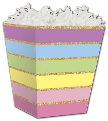Rainbow Stripes Sweet Treat Boxes, 4 x 4 x 4 1/2