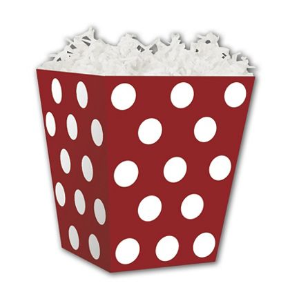 """Red & White Dots Sweet Treat Boxes, 4 x 4 x 4 1/2"""""""