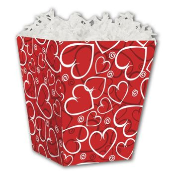 Sassy Hearts Sweet Treat Boxes, 4 x 4 x 4 1/2
