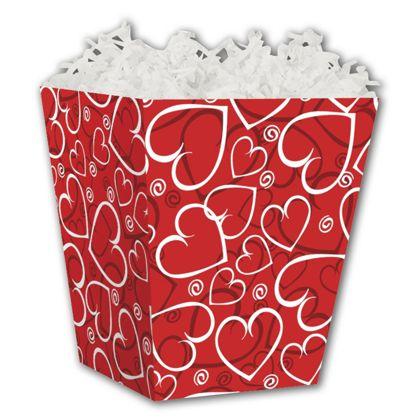 """Sassy Hearts Sweet Treat Boxes, 4 x 4 x 4 1/2"""""""
