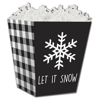 Let it Snow Plaid Sweet Treat Boxes, 4 x 4 x 4 1/2