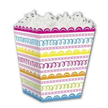 Sweet Swirls Sweet Treat Boxes, 4 x 4 x 4 1/2