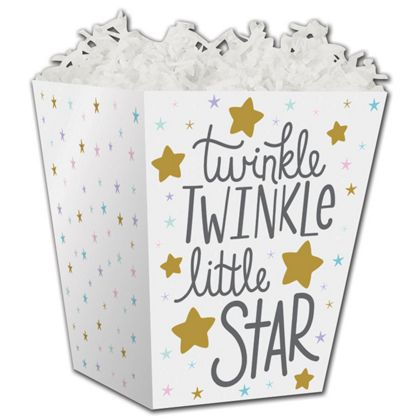 Twinkle Little Star Sweet Treat Boxes, 4 x 4 x 4 1/2""