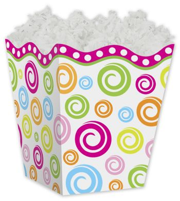 Swircles Sweet Treat Gift Boxes, 4 x 4 x 4 1/2