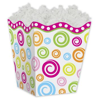 Swircles Sweet Treat Gift Boxes, 4 x 4 x 4 1/2""