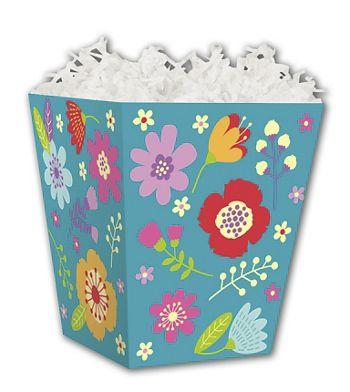 Wild Flowers Sweet Treat Boxes, 4 x 4 x 4 1/2