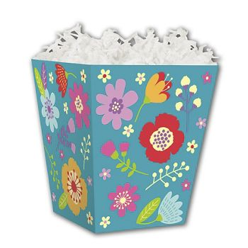 Wild Flowers Sweet Treat Boxes, 4 x 4 x 4 1/2