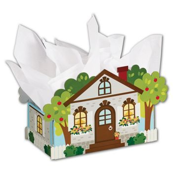 Welcome Cottage Intricut Basket Boxes, 12 x 6 x 7 5/8