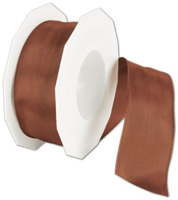 Wire-Edge Lyon Cinnamon Ribbon, 1 1/2