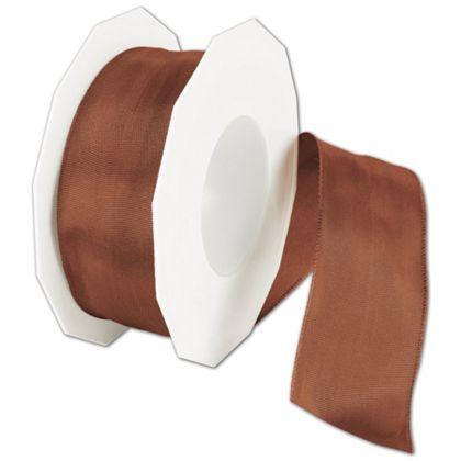 """Wire-Edge Lyon Cinnamon Ribbon, 1 1/2"""" x 27 Yds"""