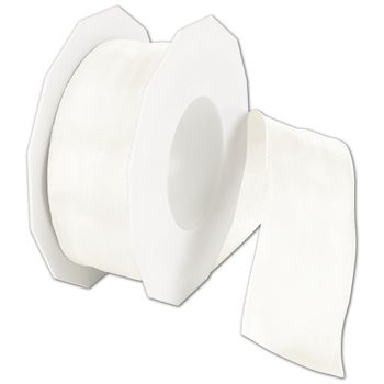 "Wire-Edge Lyon Bridal White Ribbon, 1 1/2"" x 27 Yds"