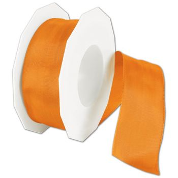 Wire-Edge Lyon Mandarin Ribbon, 1 1/2