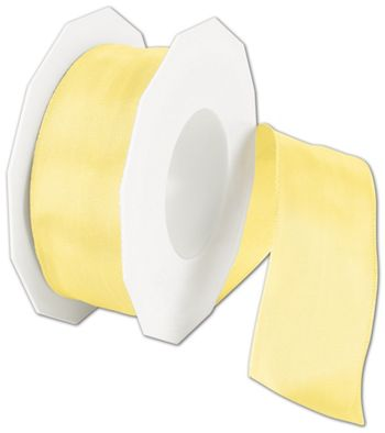 Wire-Edge Lyon Yellow Ribbon, 1 1/2