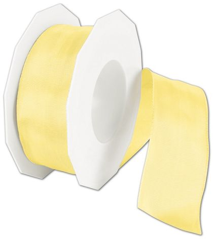 "Wire-Edge Lyon Yellow Ribbon, 1 1/2"" x 27 Yds"