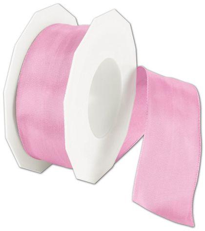 "Wire-Edge Lyon Summer Pink Ribbon, 1 1/2"" x 27 Yds"