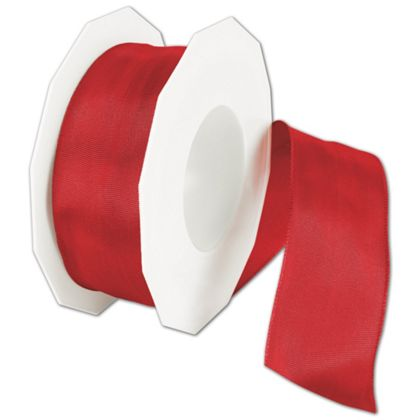 "Wire-Edge Lyon Holiday Red Ribbon, 1 1/2"" x 27 Yds"