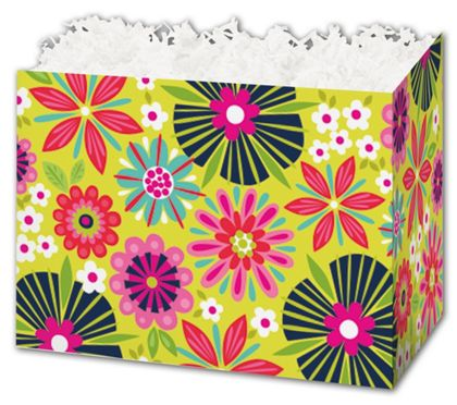 Bountiful Blooms Gift Basket Boxes, 10 1/4 x 6 x 7 1/2""