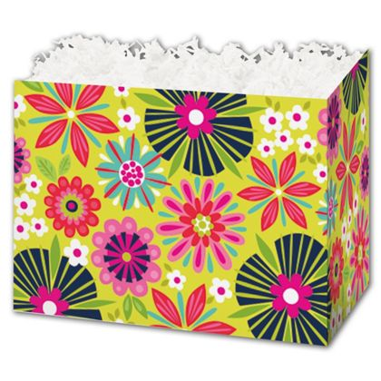 "Bountiful Blooms Gift Basket Boxes, 10 1/4 x 6 x 7 1/2"""