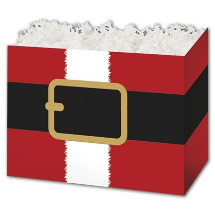 Santa's Belt Gift Basket Boxes, 10 1/4 x 6 x 7 1/2""