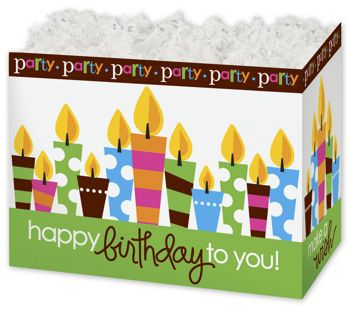 Birthday Party Gift Basket Boxes, 10 1/4 x 6 x7 1/2