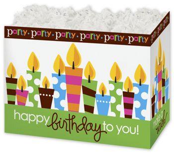 Birthday Party Gift Basket Boxes, 10 1/4 x 6 x7 1/2