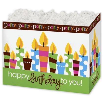 "Birthday Party Gift Basket Boxes, 10 1/4 x 6 x7 1/2"""