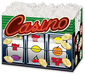 Casino Gift Basket Boxes, 10 1/4 x 6 x 7 1/2