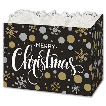 Christmas Elegance Gift Basket Boxes, 10 1/4 x 6 x 7 1/2