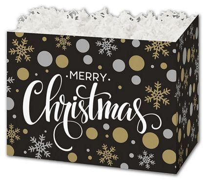 "Christmas Elegance Gift Basket Boxes, 10 1/4 x 6 x 7 1/2"""