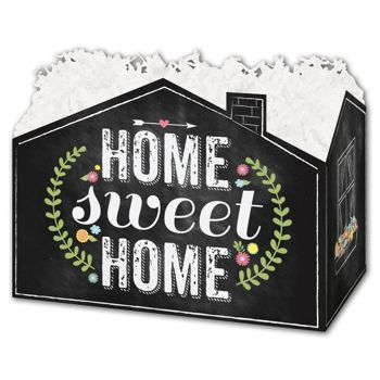 Chalkboard Home Gift Basket Boxes, 10 1/4 x 6 x 7 1/2