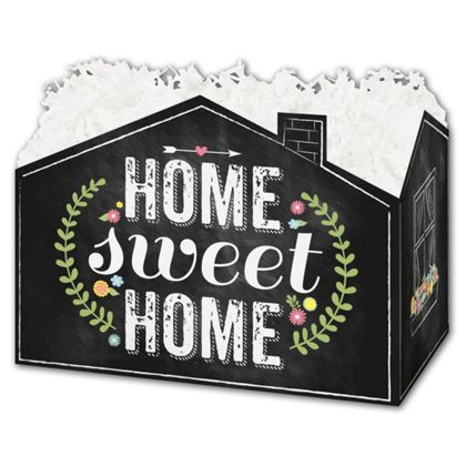 Chalkboard Home Gift Basket Boxes, 10 1/4 x 6 x 7 1/2""