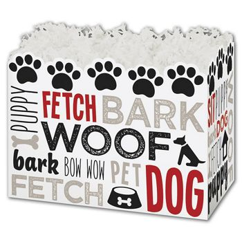 Dog Lovers Gift Basket Boxes, 10 1/4 x 6 x 7 1/2