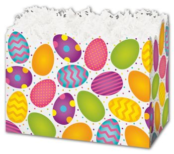 Easter Eggs Gift Basket Boxes, 10 1/4 x 6 x 7 1/2