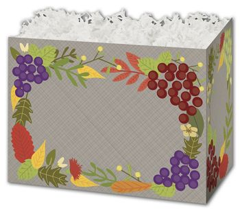 Fall Foliage Gift Basket Boxes, 10 1/4 x 6 x 7 1/2